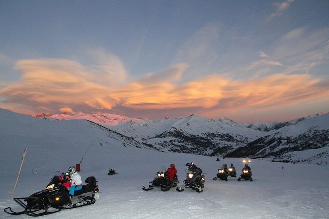Snowmobile ride in VARS, about 25 kilometers