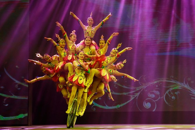 Acrobatics Show with Private Driver Service Include Hotel Pick-up and Drop-off