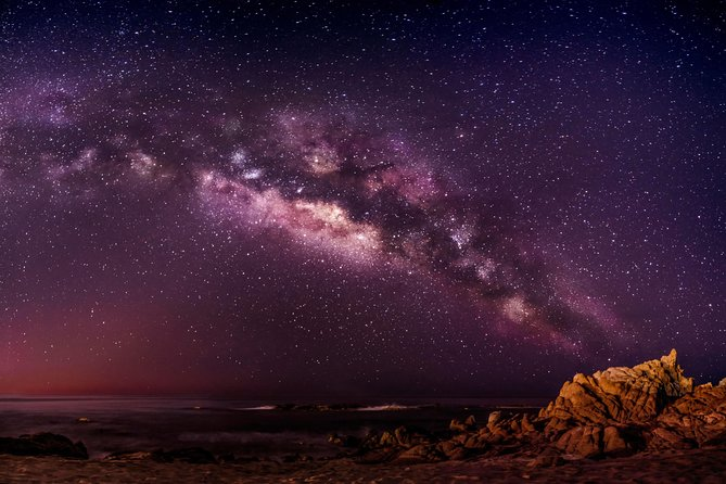 Guided star gazing of the night sky and night photos in Paros