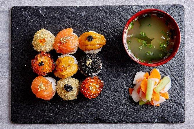 Experience Japanese cuisine in Asakusa (Temari sushi + miso soup + asakuzuke)