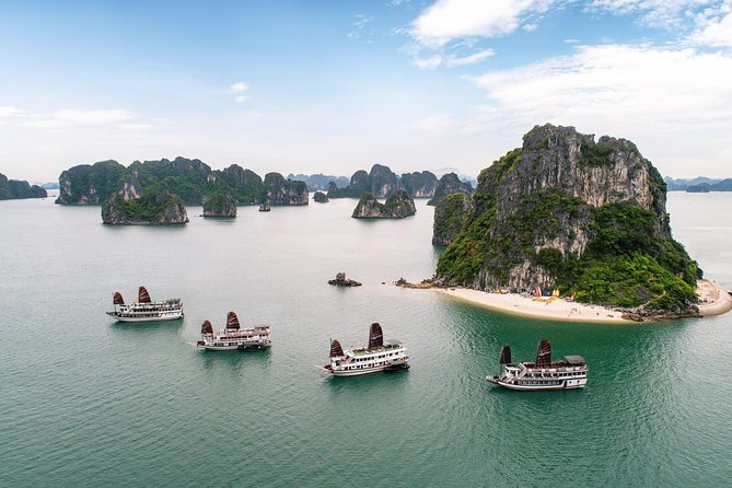 Full Day Cruise by Wooden Boat at Ha Long Bay from any Cruise Port