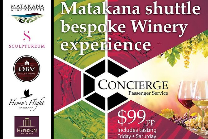 Matakana Shuttle Bespoke Winery Experience