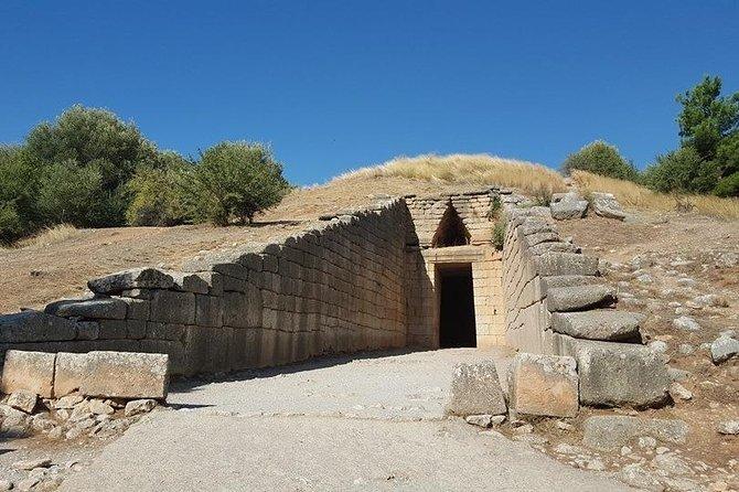 Day tour to Ancient Olympia,Kaiadas,Temple of Apollo,Ancient Sparta and Mycenae