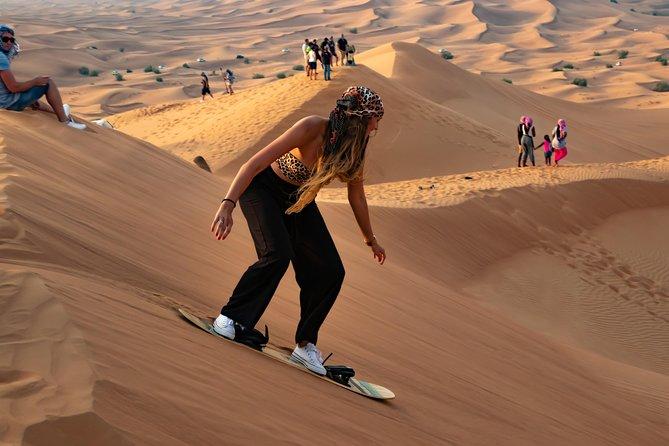 Dubai desert safari with evening barbecue and buffet