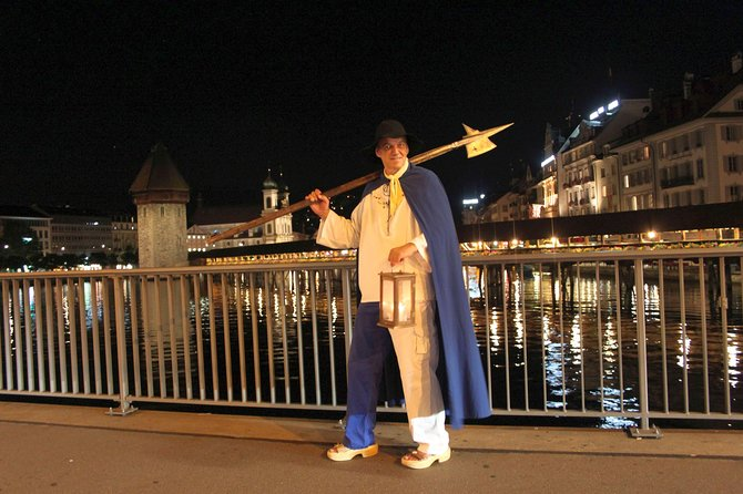 Private 1.5-Hour Nightwatchman Walk in Medieval Lucerne