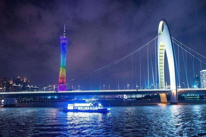 Guangzhou Pearl River Night Cruise Layover Tour Enjoy Beautiful Canton Tower