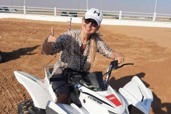 Private Morning Desert Safari with Quad bike and Camel ride