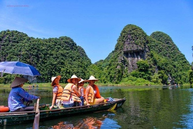 Noi Bai Airport private car 4 seaters & Ninh Binh Small Group with buffer lunch.