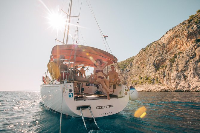 Full Day Sailing on a comfort yacht around Hvar and Pakleni islands- small group
