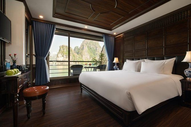 Doris Cruise 5 Star Cruise 2 Days Explore Halong Bay Lan Ha Bay Private Balcony