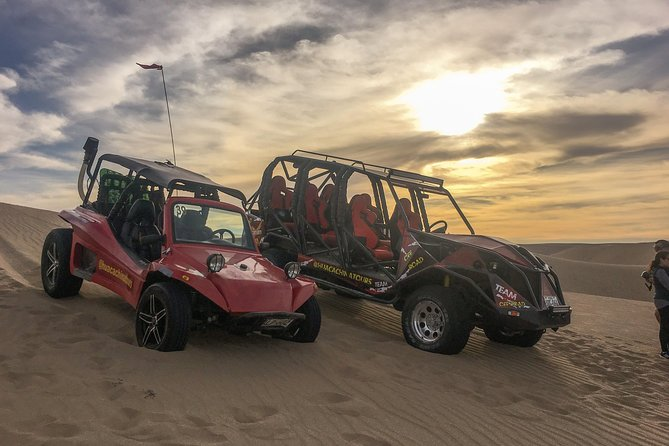 Dune Buggy and Sandboarding Experience in private desert area