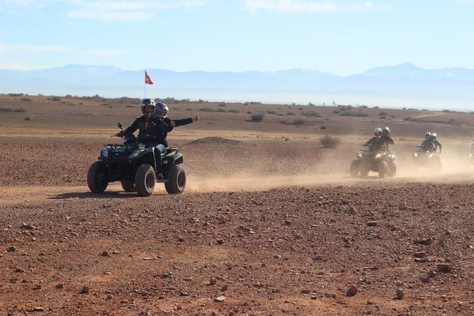 Half-day quad ride in the desert of the palm grove of Marrakech
