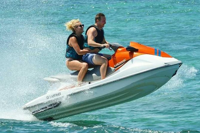 Jet ski rentals in the nice blue waters of the Bahamas