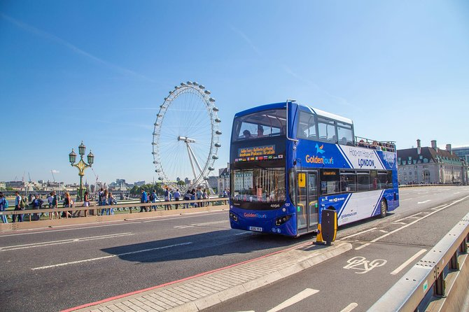 London Hop-on Hop-off Open Top Bus Tour- 24 hours ticket