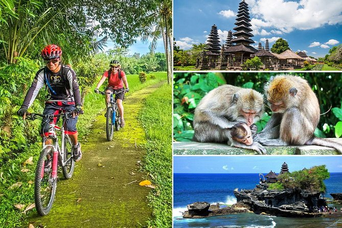 Bali Downhill Cycling and Tanah Lot Sunset Tour