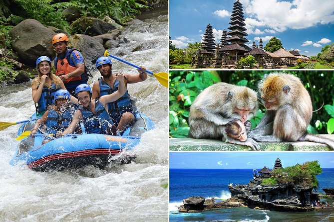 Bali White Water Rafting and Tanah Lot Sunset Tour