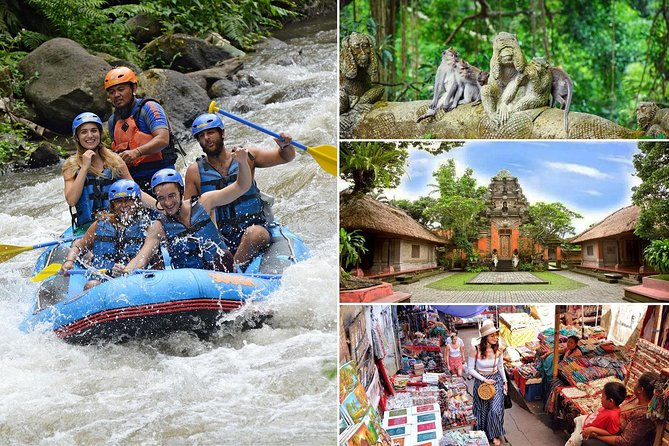 Bali White Water Rafting and Ubud Village Tour