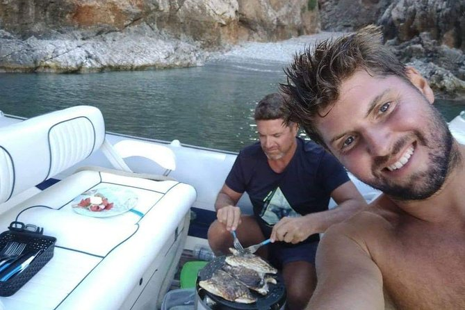 Fish and Wine Dinner on a boat, Chania