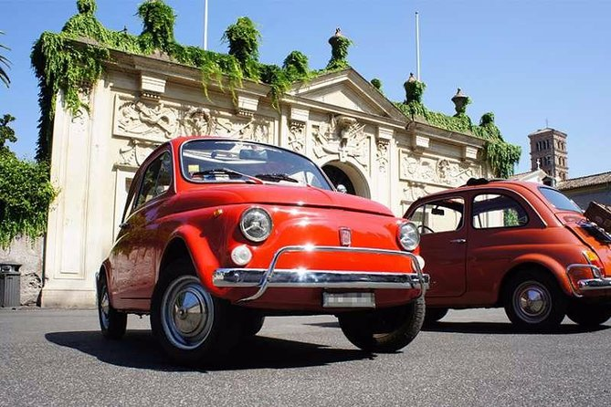 From Rome to Frascati, for a wine tour on a classic Fiat 500