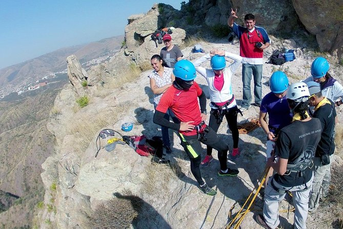 Rappelling in hills of Guanajuato