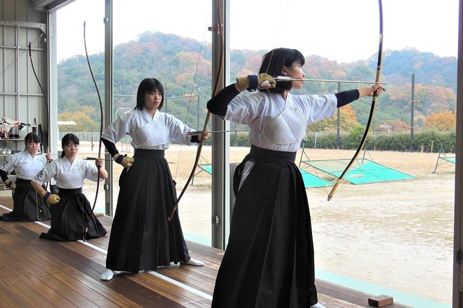 Japanese archery Guide Tour with trial shooting experience photo 1
