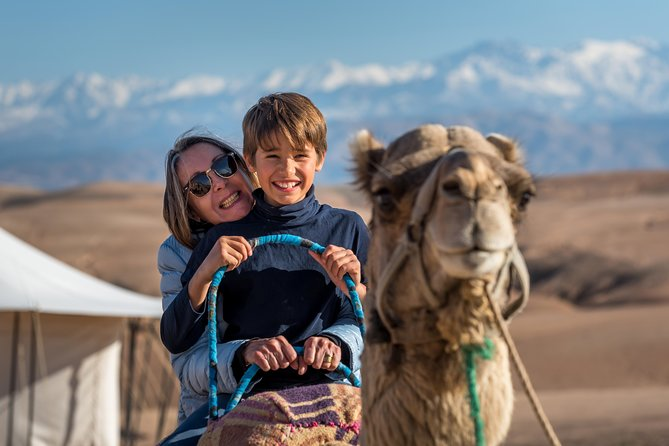 Agafay Desert Camel Experience with snack from Marrakech
