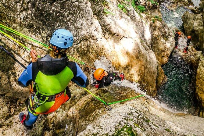 Beginner Canyoning Sušec in Bovec Slovenia