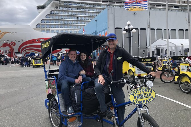 Pedicab Tour of Victoria from Cruise Ship Terminal