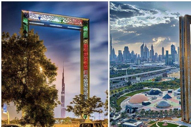 Dubai frame + Burj Khalifa