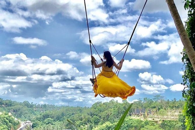 Ubud Hype: Jungle Swing, Bird Nest, Ayung River Rafting with Transport & Lunch