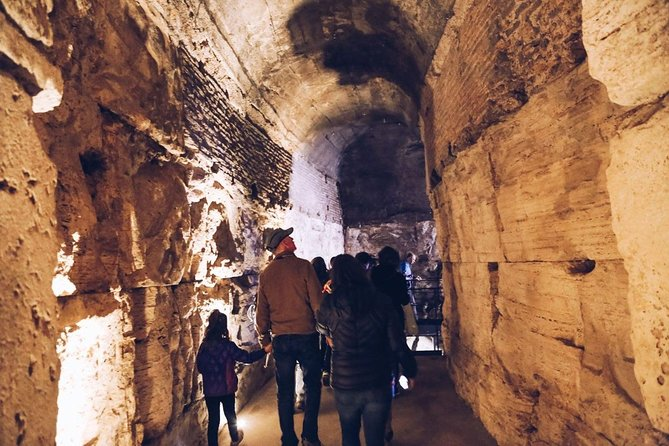Colosseum Dungeons Tour with Roman Forum and Cesar's Palace Special Access