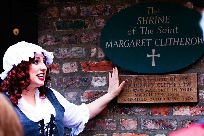 Mad Alice at the Shrine of St. Margaret Clitherow, martyred in York 1586.