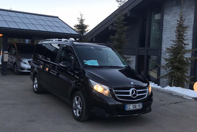 Airport Chambery - private VIP transfer to La Plagne on Mercedes V-class