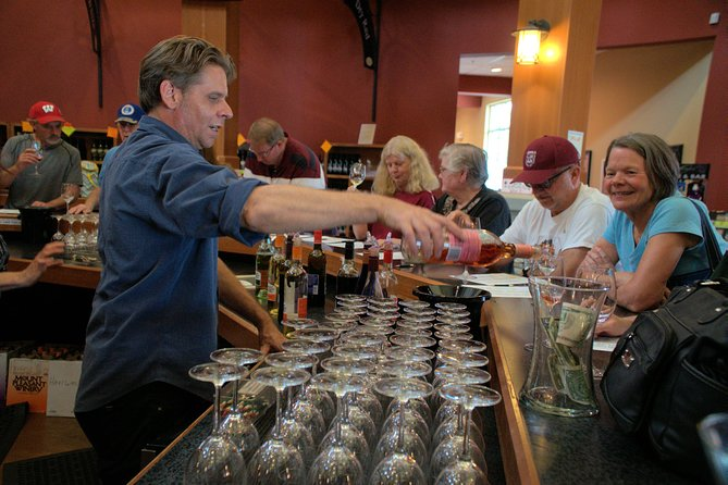 Wine Pouring at Mt Pleasant Winery