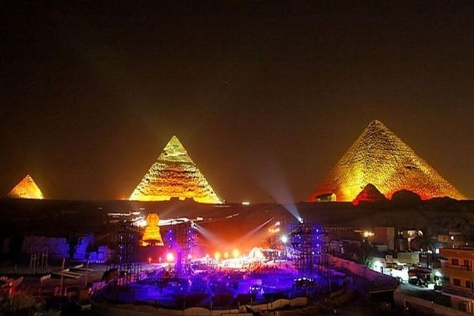 Sound and Light Show at Giza Pyramids and local dinner