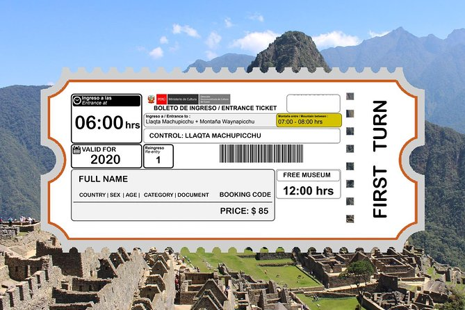 Tickets to Huayna Picchu First Schedule