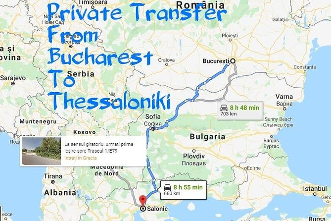Private Transfer from Bucharest to Thessaloniki Salonic GR Price/Car 1-4 Seats photo 1