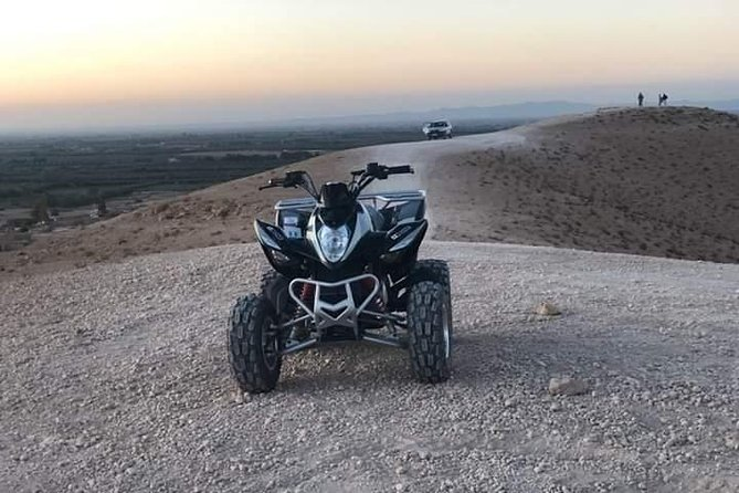 quad biking around marrakech in agafay desert
