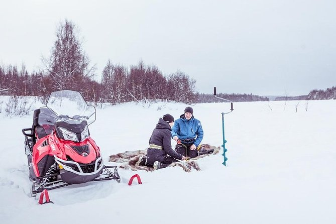 Fishing Experience by Snowmobiles from Rovaniemi