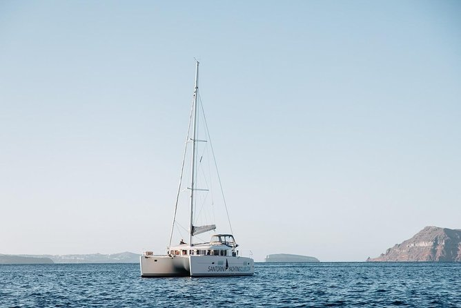 Romantic Sunset Catamaran Caldera Cruise incl. Meal & Drinks