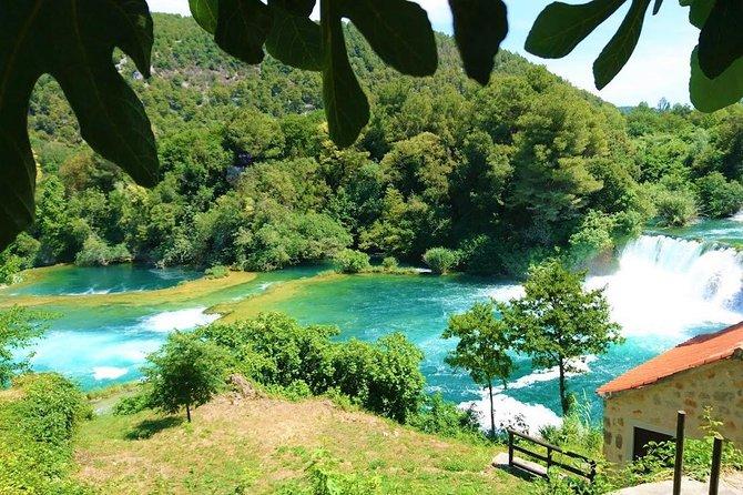 All inclusive luxury Krka waterfalls trip from Split or Trogir.