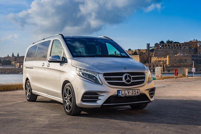 Departure Private Transfer from Malta to Malta Airport (MLA) in Luxury Van