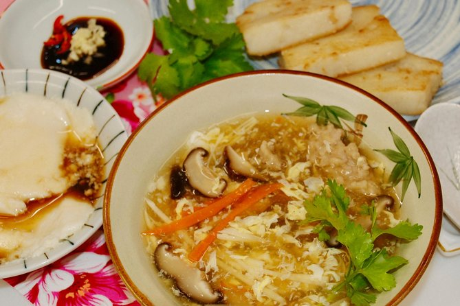 Taiwan Traditional Light Meals Experience -B-, Turnip cake, Pork thick soup, Tofu pudding