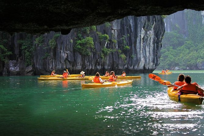 HaLong Bay Full Day Cruise With Express Bus,Amazing Cave,Titop Island with Guide