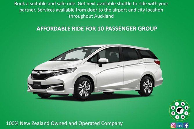 Arrival Transfer: Auckland Airport to Auckland Central City