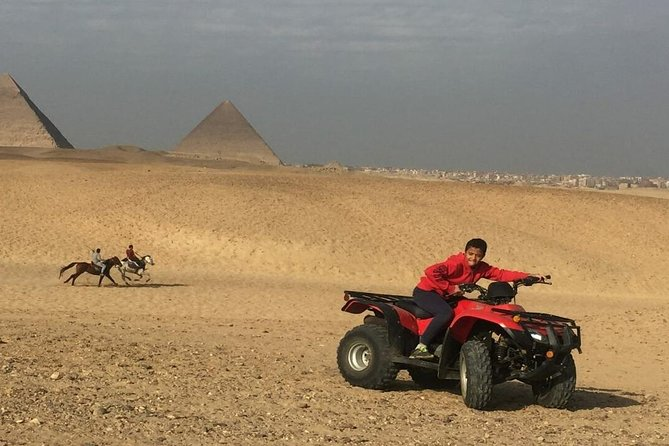 Quad Bike Around Pyramids enjoying Sunset or Sunrise photo 1