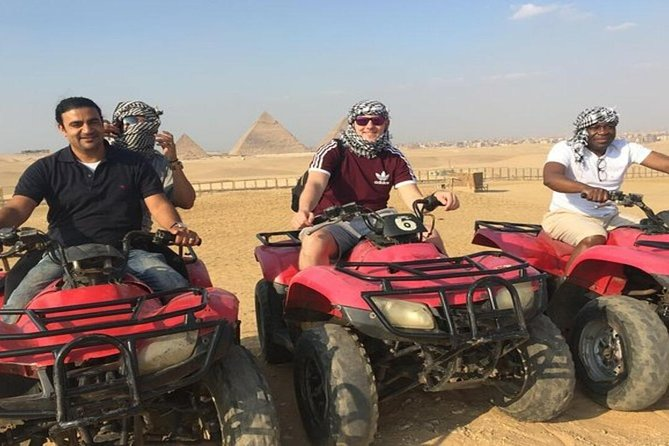 Quad Bike Around Pyramids enjoying Sunset or Sunrise photo 3