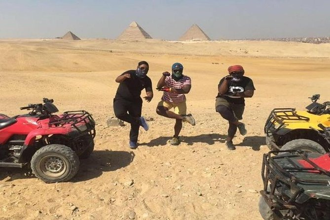 Quad Bike Around Pyramids enjoying Sunset or Sunrise photo 2