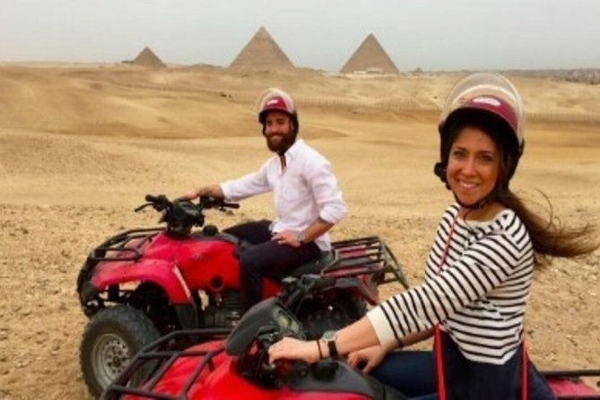Quad Bike Around Pyramids enjoying Sunset or Sunrise photo 6