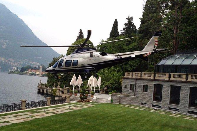 A private helicopter tour over lake Como